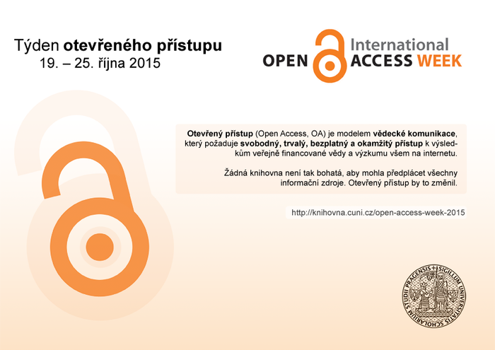 Open Access Week 2015 na UK