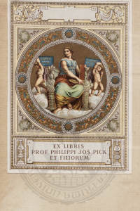 Ex libris dermatologa Filipa Josefa Picka